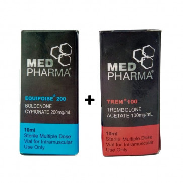 Acetato de Trembolona 100mg 10ml + Boldenona 200mg 10ml - Med Pharma