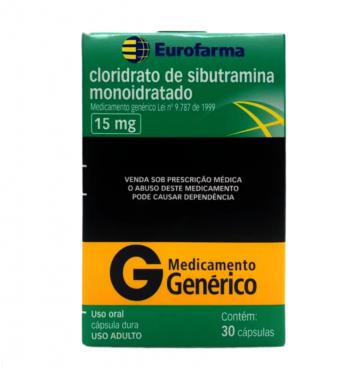Cloridrato de Sibutramina / Sibutramina - EuroFarma- 15mg (30Comp)