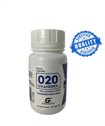 Oxandrolona Manipulada - Growth Company - Anavar - 20mg (100caps)